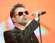 George Michael performs on stage at 'Live 8 London' in Hyde Park on July 2, 2005 in London, England