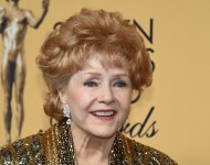 Debbie Reynolds, recipient of the Screen Actors Guild Life Achievement Award, poses in the press room during the 21st Annual Screen Actors Guild Awards at The Shrine Auditorium on January 25, 2015 in Los Angeles, California