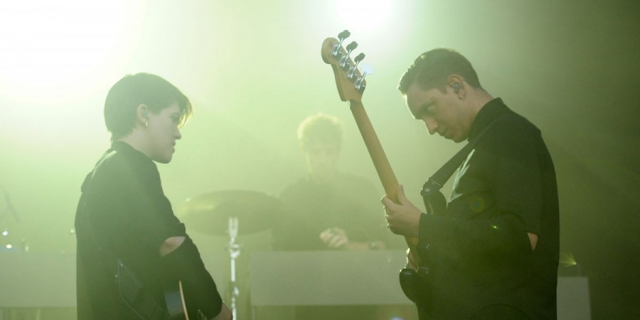 Romy Madley Croft and Oliver Sim of The xx perform during 2013 Governors Ball Music Festival at Randall's Island on June 9, 2013 in New York City