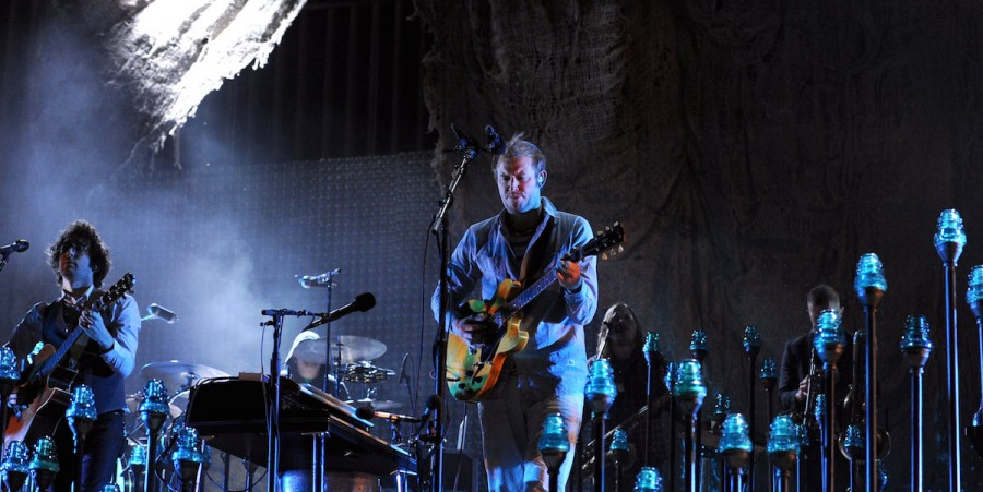 Justin Vernon of Bon Iver performs onstage during day 2 of the 2012 Coachella Valley Music & Arts Festival on April 14, 2012