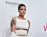 Halsey attends the Billboard Women in Music 2016 event on December 9, 2016 in New York City