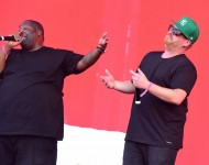 El-P and Killer Mike of Run the Jewels perform onstage at the 2016 Panorama NYC Festival - Day 3 at Randall's Island on July 24, 2016 in New York City