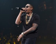 Nas performs onstage during the Puff Daddy and The Family Bad Boy Reunion Tour at Barclays Center on May 20, 2016 in New York City