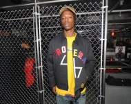 Joey Badass attends the adidas New York Flagship Preview Party on November 29, 2016 in New York Cit