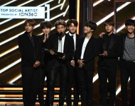 Music group BTS accepts the Top Social Artist