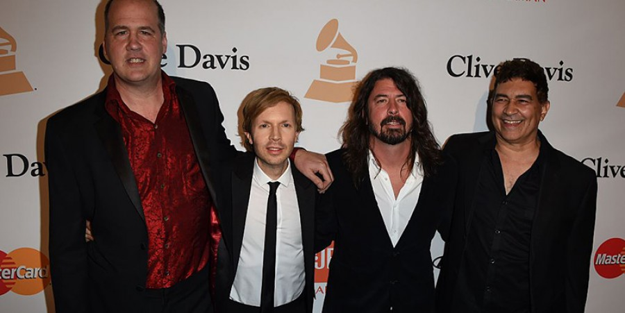 Dave Grohl With Some Nirvana Band Members