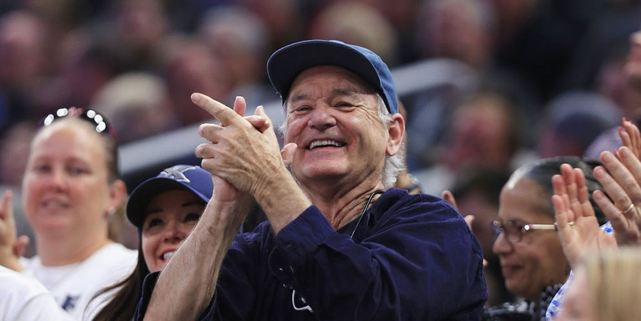 Bill Murray at a basketball tournament in 2017