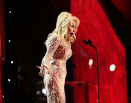 Dolly Parton onstage at the 2017 Screen Actors Guild Awards