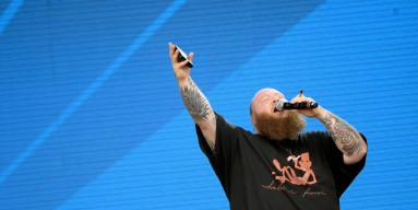 Action Bronson onstage at a festival in New York City in 2017
