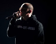 Logic performs onstage at the 2018 Grammy Awards