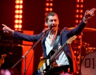 Arctic Monkeys' Alex Turner performs onstage at iHeartRadio Live in June, 2014