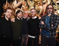 The National pose backstage at the Citi Sound Vault presents show in NYC