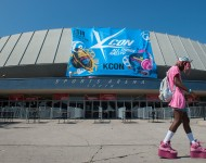 Los Angeles Memorial Coliseum during KCON 2014