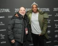 Jay-Z and Harvey Weinstein