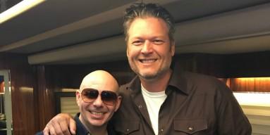 Blake Shelton and Pitbull