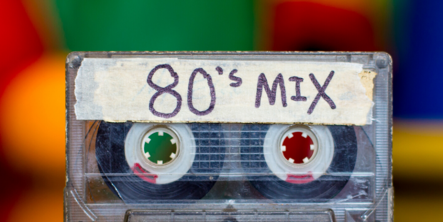 Iconic cassette tape from the '80s
