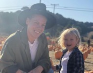 P!nk with her 3-year-old son Jameson. Both have recovered from COVID-19