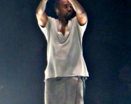 Kanye West performing at Bridgestone Arena on November 27, 2013 in Nashville, Tennessee on The Yeezus Tour.