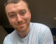 Sam Smith on this Twitter April 18 post sending cyberlove to fans
