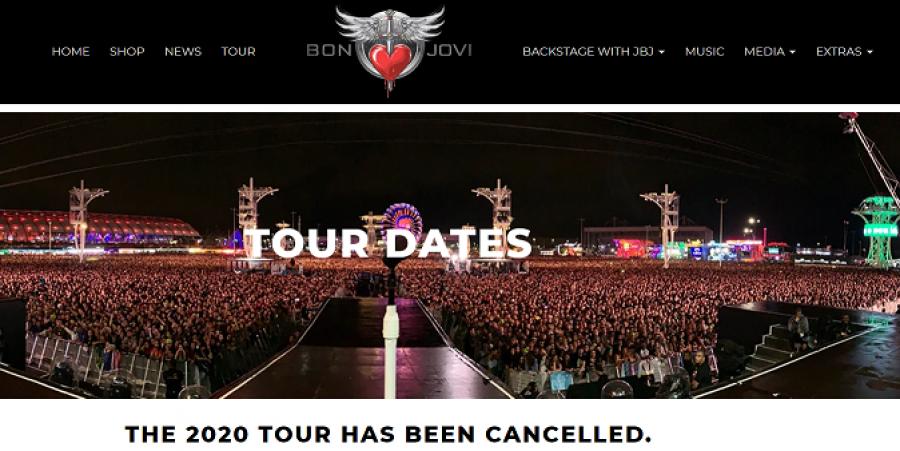 Bon Jovi's announcement on its official website