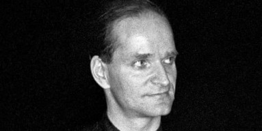 Florian Schneider of Kraftwerk in 1978 with his enigmatic smile.  They pioneered the sound of electronic music.