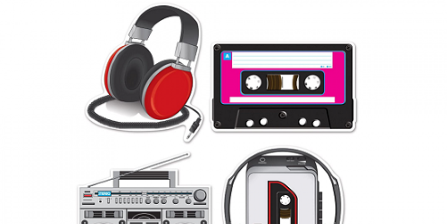 Beistle 54667 Cassette Player Cutouts