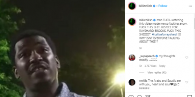 """""""F**k this shit. Justice for Rayshard Brooks."""""""