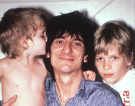 Ronnie Wood with children Jaime (right)