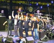 Pearl Jam in one of their performances in New York in 2016.